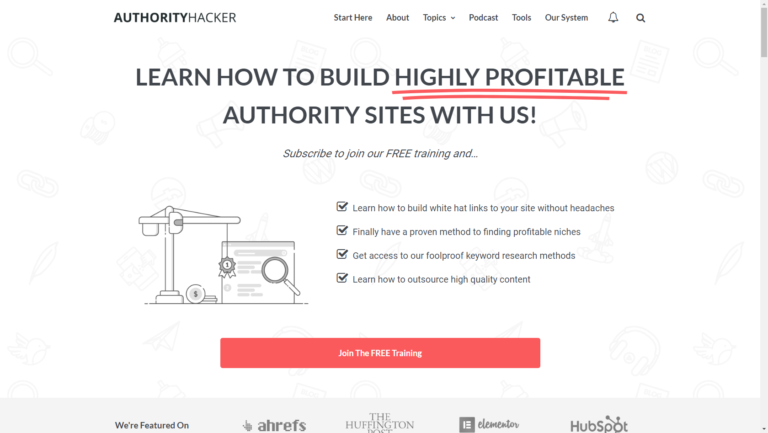 Authority Hacker home page