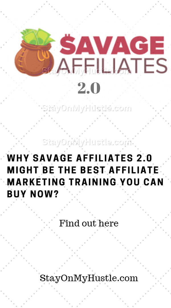 Pinterest graphic for blog post titled Savage Affiliates 2.0 review
