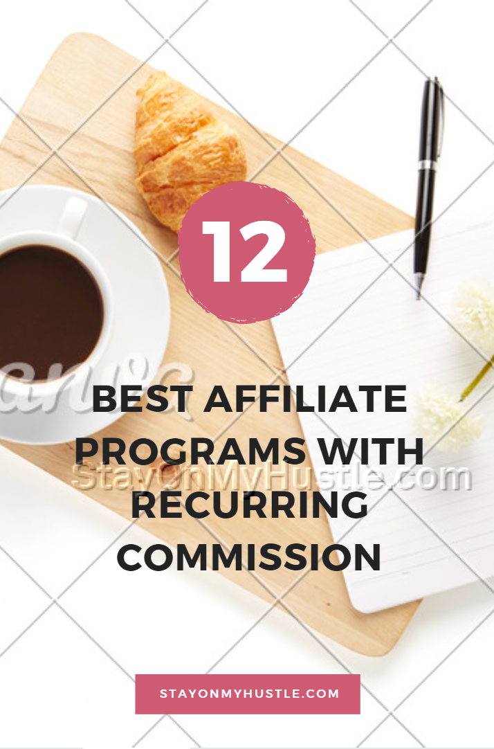 pinterest graphic of blog post Best Affiliate programs with recurring commissions