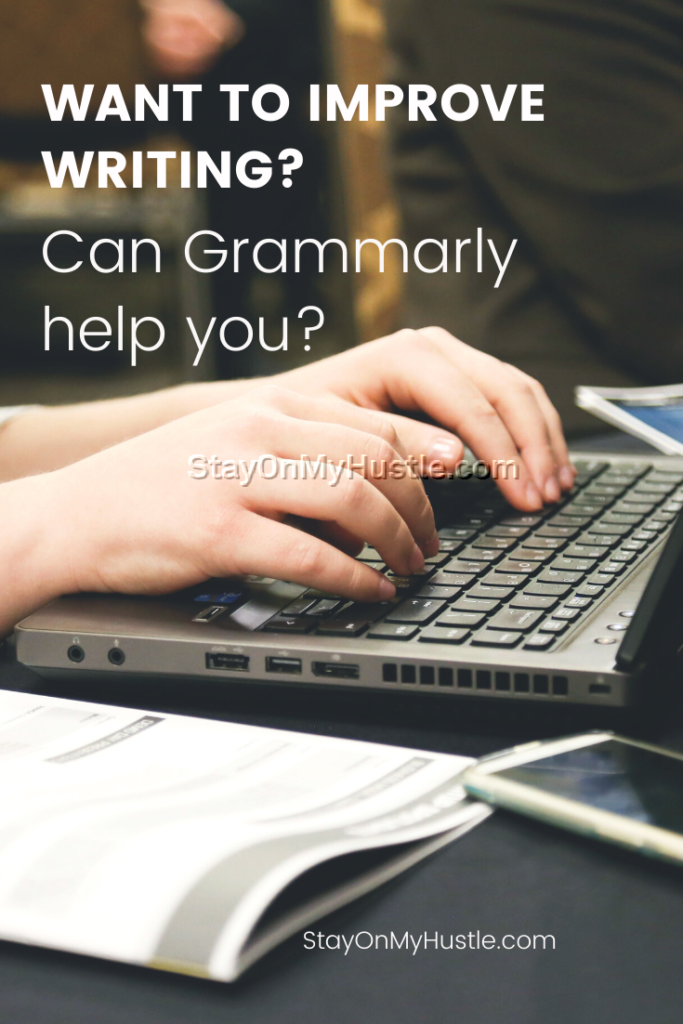 Grammarly review pinterest graphic