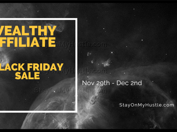 Wealthy Affiliate Black Friday sale poster