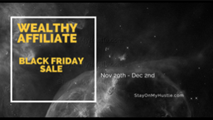 feature image of blogpost Wealthy Affiliate Black Friday deal 2019