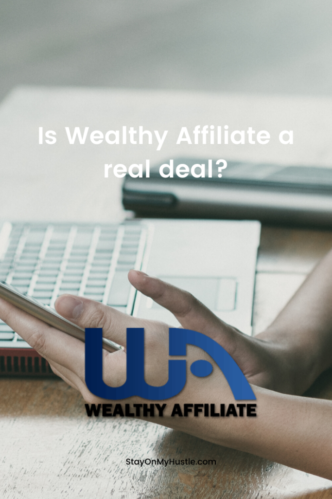 pinterest graphich of Wealthy Affiliate review