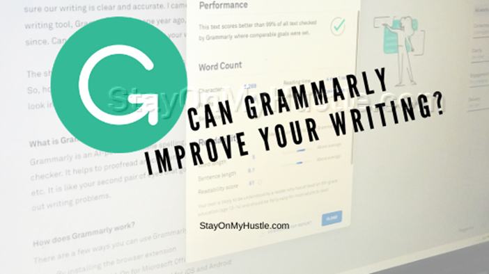 Blog banner of blog post titled Can Grammarly improve your writing?