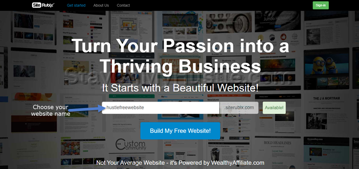 Front page of SiteRubix.com