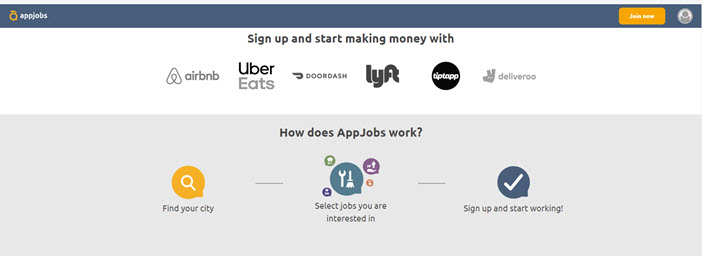 AppJobs main page