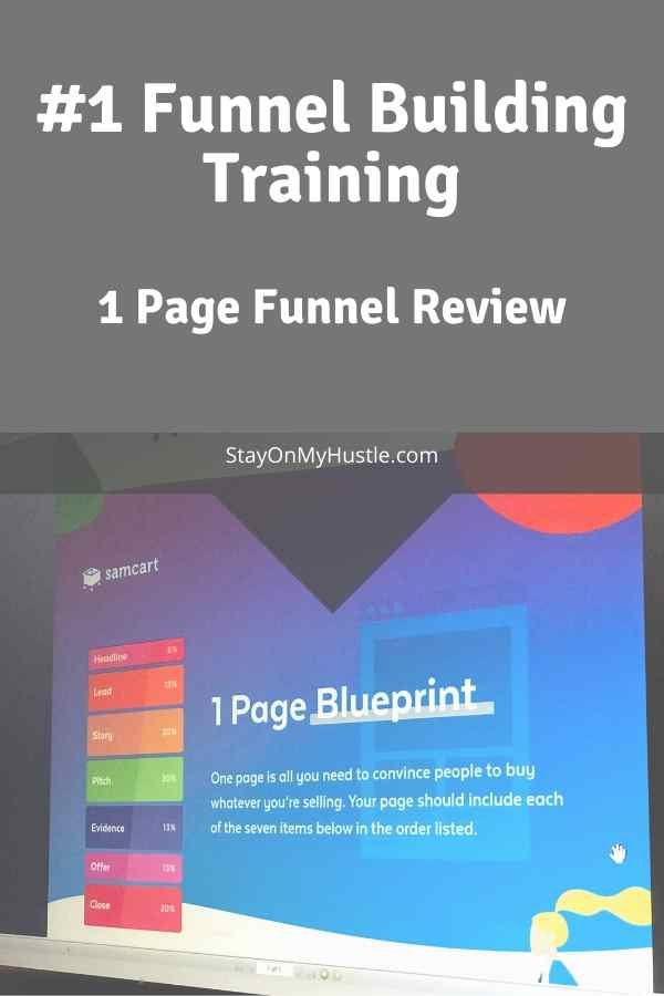 1 page Funnel Review Pinterest graphic