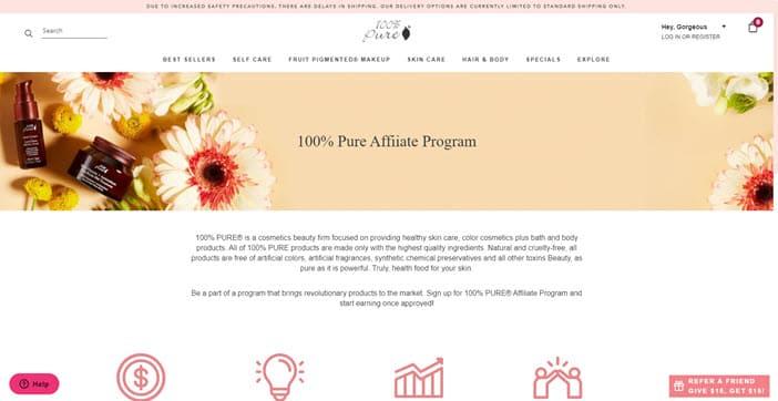 100% Pure Affiliate Program