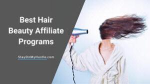 Best hair beauty affiliate programs feature image