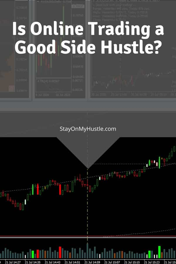 Is Online Trading a good side hustle? - Pinterest graphic