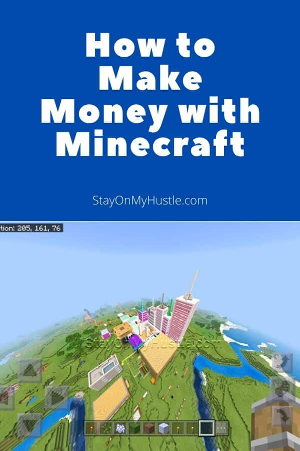 Pinterest graphic of How To Make Money With Minecraft