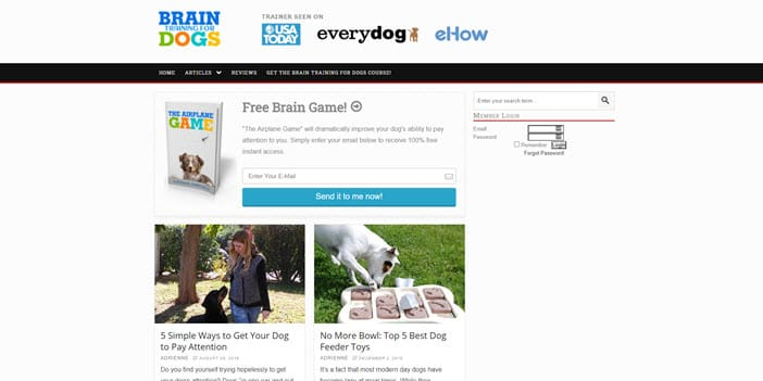 Brain Training For Dogs front page