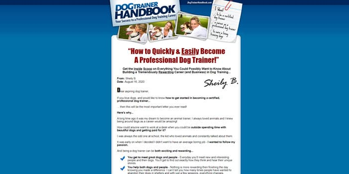 Dog Trainer Handbook