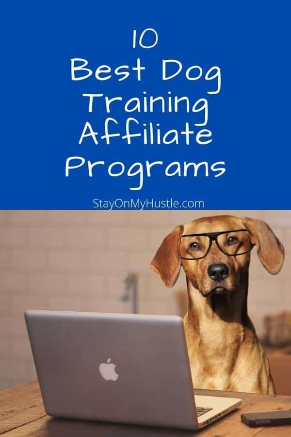 10 best dog training affiliate programs pinterest graphic