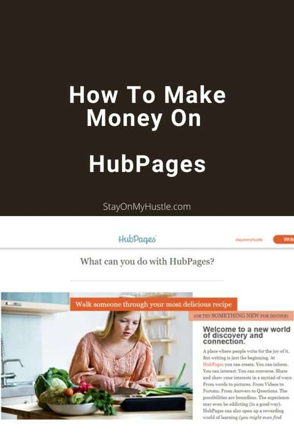 How To Make Money On HubPages - Pinterest Graphic