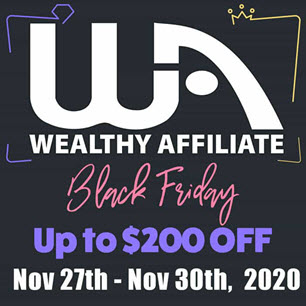 wealthy affiliate black friday deal 2020