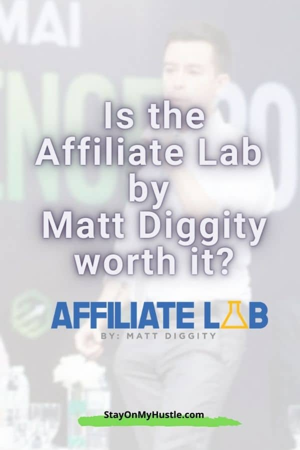 Pinterest graphic for the Affiliate Lab review